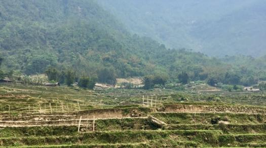 The stunning green mountains of Sapa